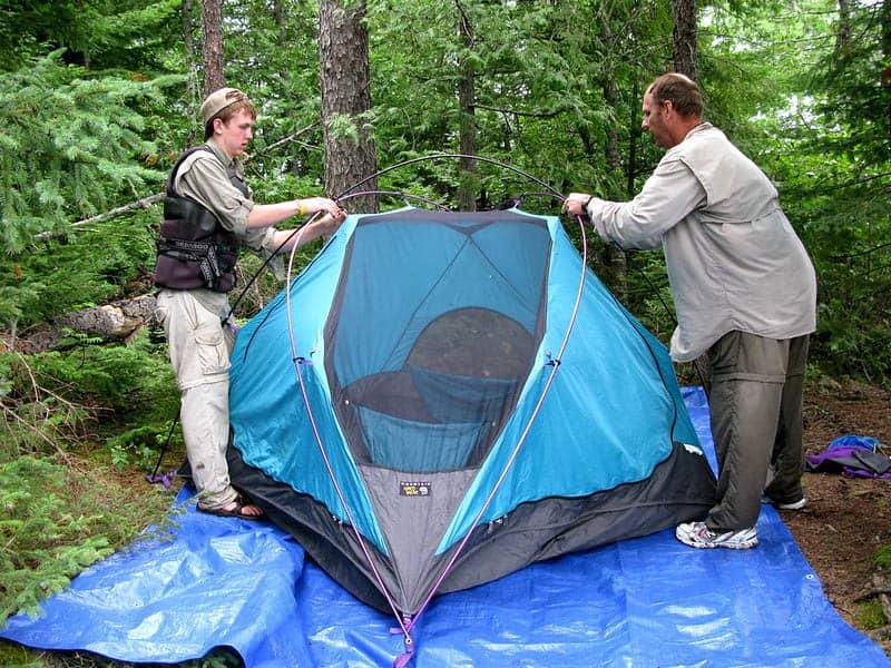 tarp as tent footprint