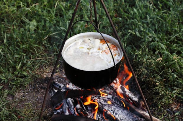 Using Pot to Boil Water