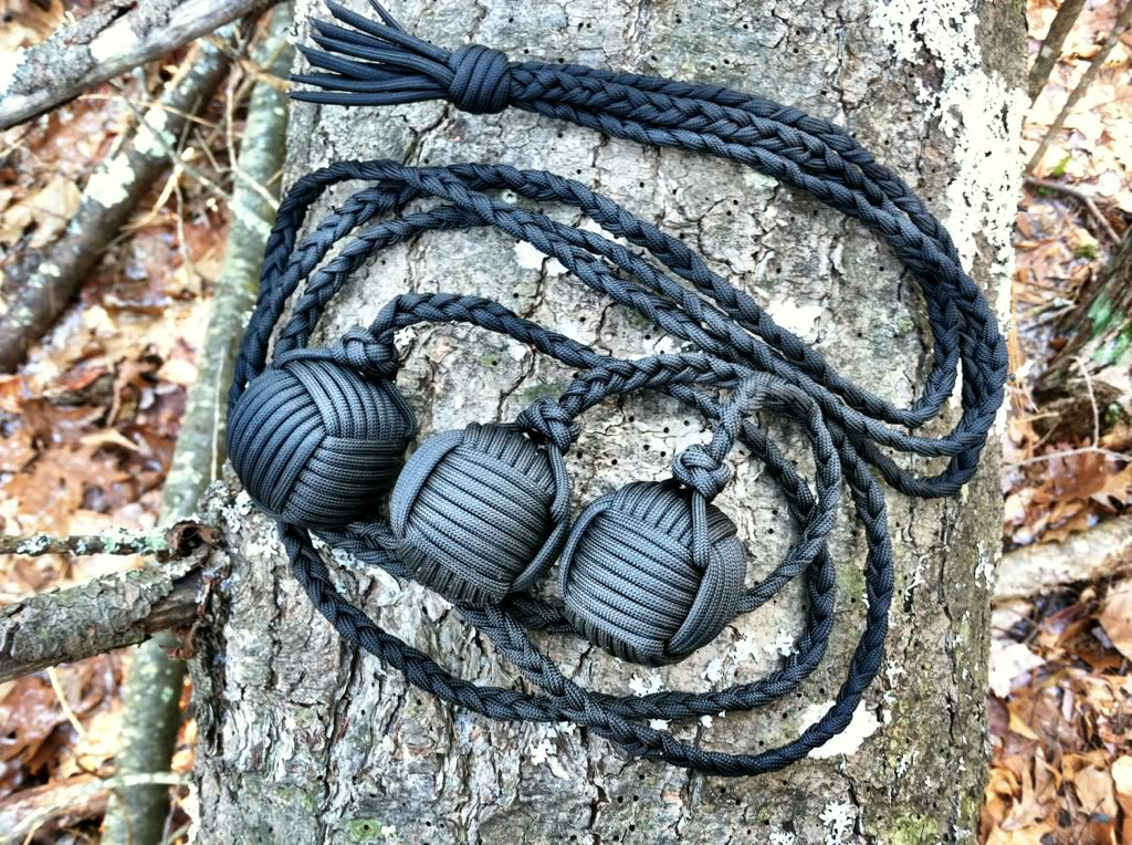 Create bola with paracord